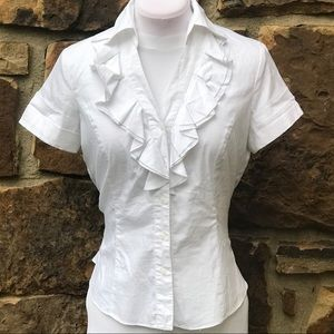 Signature by Larry Levine Ruffled Blouse